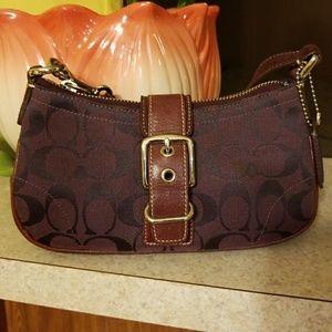 Coach denim mini purse